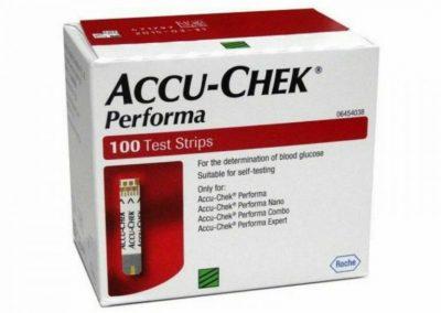 Accu Chek PERFORMA 100 Diabetes Glucose Test Strips