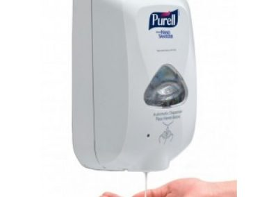 Purell Hand Sanitizer Dispenser 2720-12 2720-01 TFX Touch Free, Dove Gray